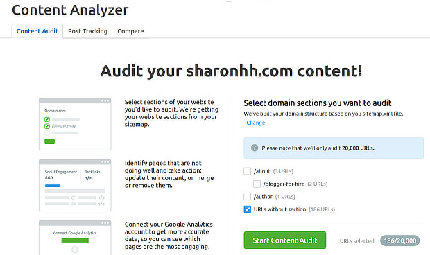 semrush content audit step 2