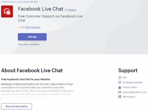 facebook live chat