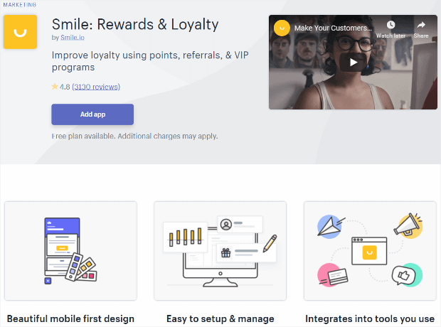 smile: rewards & loyalty app for shopify