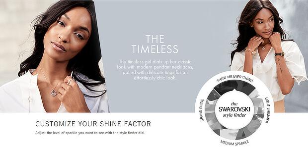 ecommerce personalization examples - swarovski shine factor