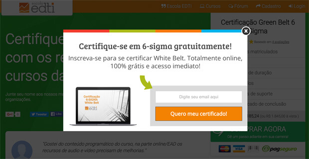 website testing best practices - escola edti example