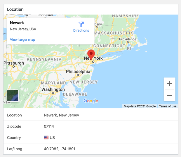 wpforms geolocation data