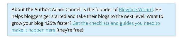 adam connell lead magnet in bio - guest blog post examples
