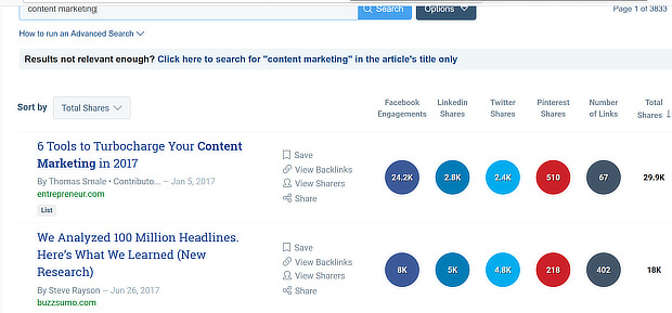 buzzsumo topic search