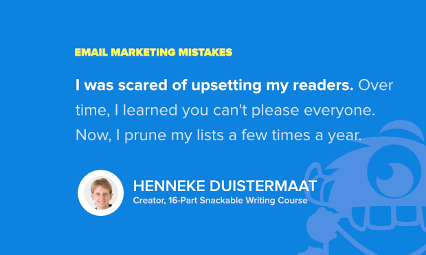 henneke duistermaat shares her top email marketing mistakes