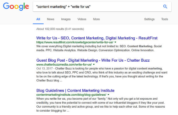 write for us google search helps with guest blogging strategy