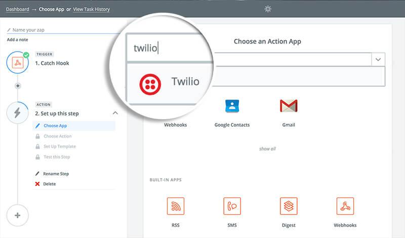Choose Twilio