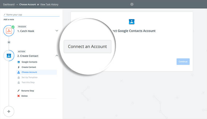 Connect an Account