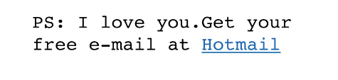 Hotmail creative growth hacks