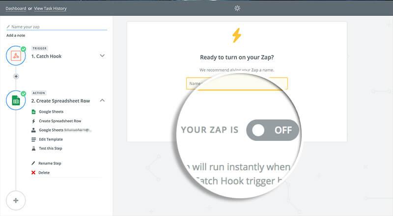 Turn on Zap