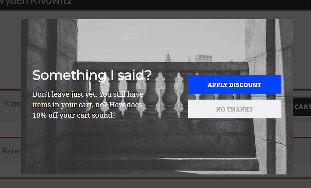 Scott Wyden Exit-Intent Campaign