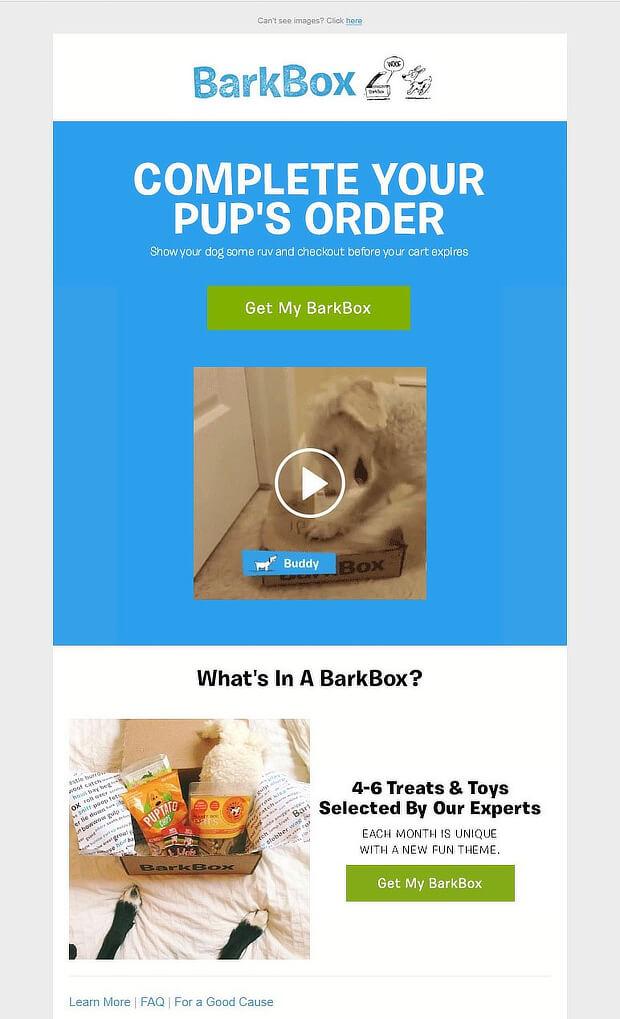 barkbox abandonment email 1
