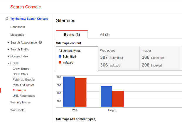 check your website seo- gsc sitemap
