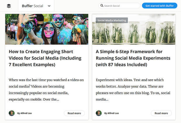 content marketing examples from the buffer blog