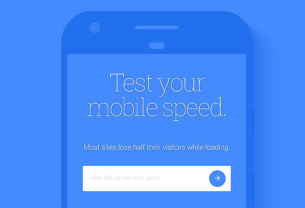 test mobile speed with google