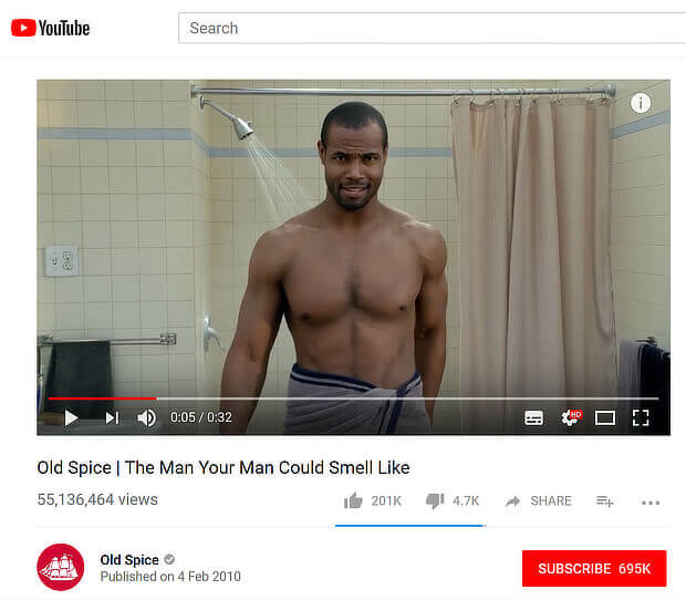 old spice video