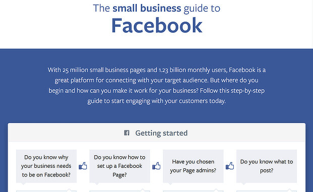 facebook content marketing example from simply business