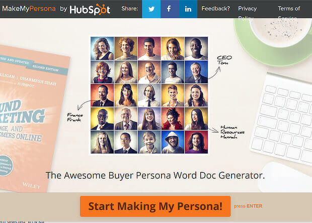 campaign testing process - know your buyer personas with hubspot's tool