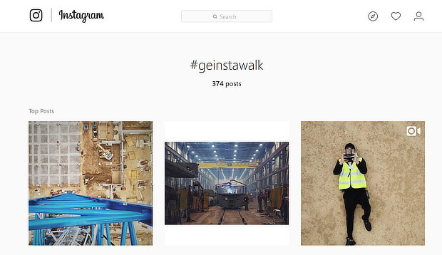 content marketing examples on instagram - ge