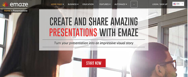 emaze is fast content creation software