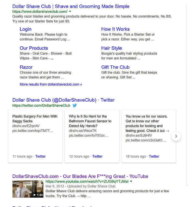 9 how social media affects seo - dollar shave - Google Search