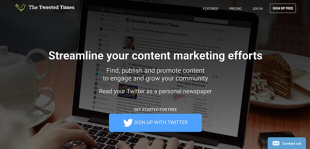 Tweeted Times Content curation and publishing