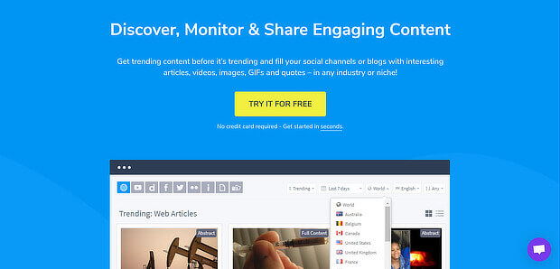 content studio curation tool