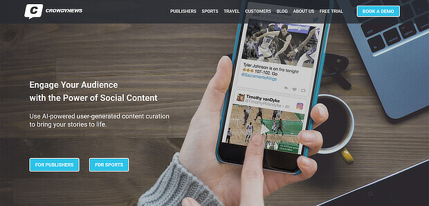 crowdynews - social content curation tools