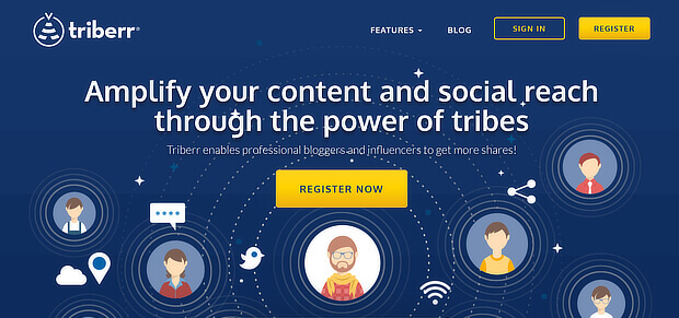 do automated content curation with triberr