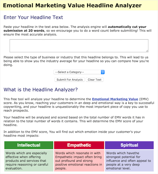 emotional value headline analyzer