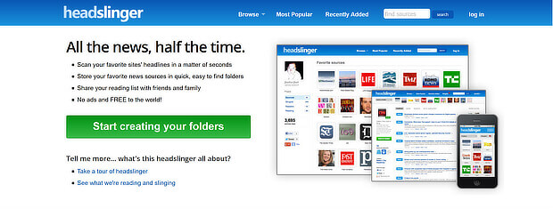 headslinger is a free content curation tool