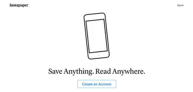 instapaper is free content curation software