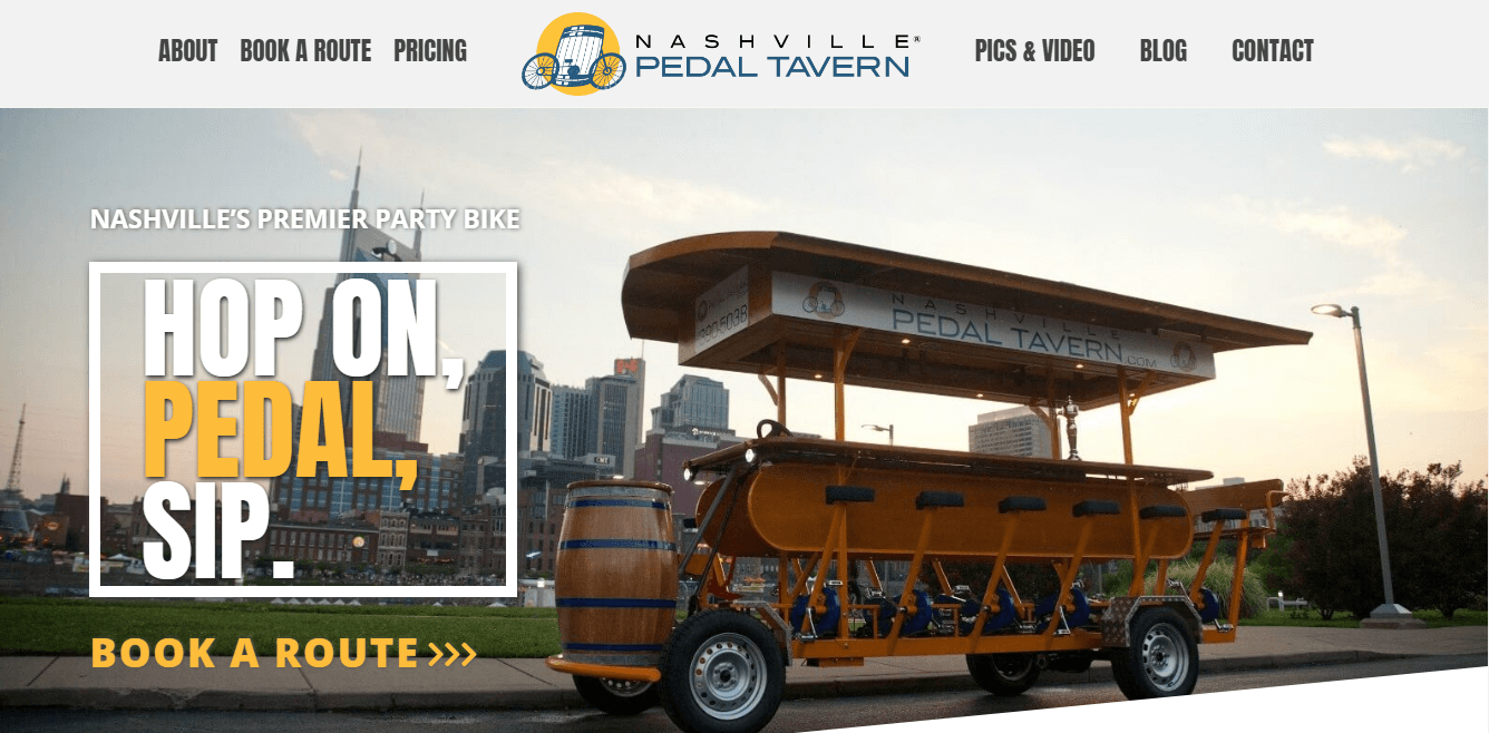 Nashville Pedal Wagon Increased Revenue Selling Gift Certificates