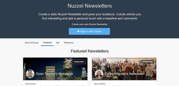 nuzzel is a news curation tool