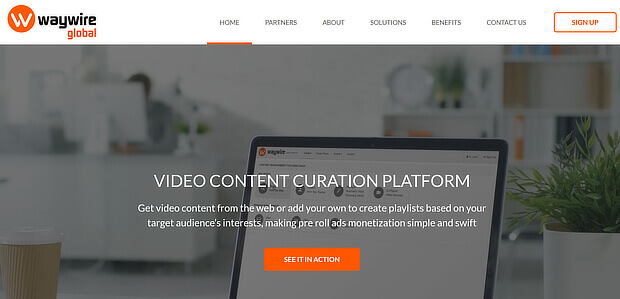 video content curation tools - waywire