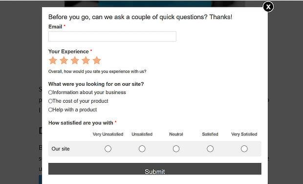 wordpress survey popup final