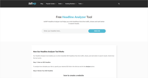 isitwp headline analyzer