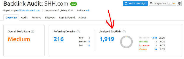 semrush analyze backlinks