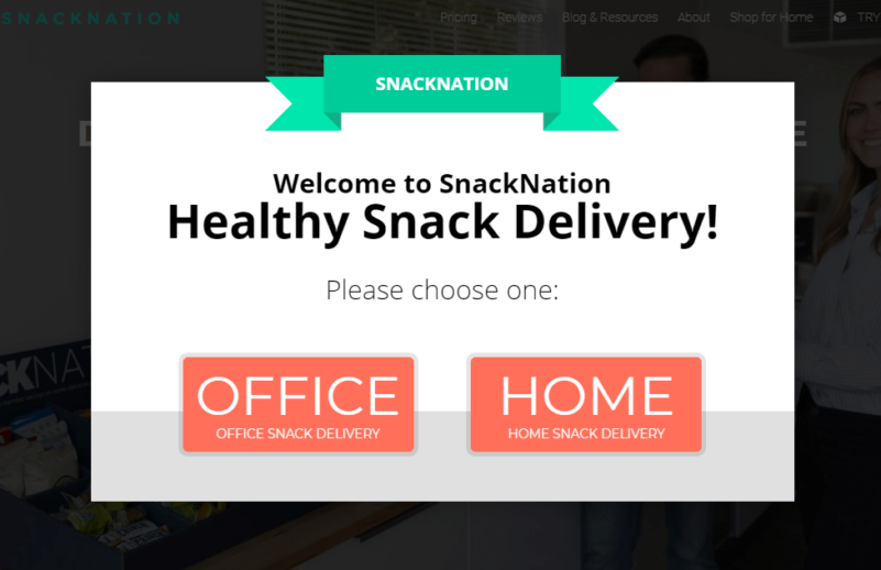 SnackNation segments visitors using OptinMonster
