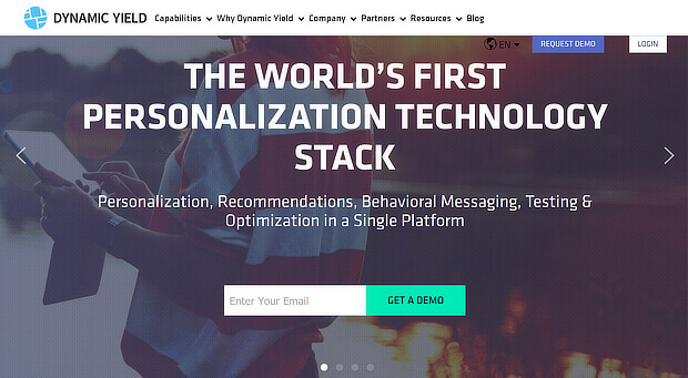 Personalization platforms — Dynamic Yield(1)