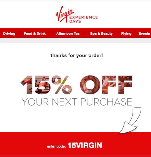 virgin sales promotion