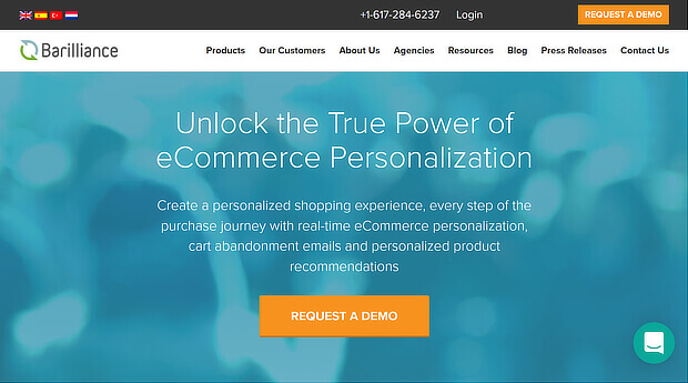 barilliance ecommerce personalization platforms