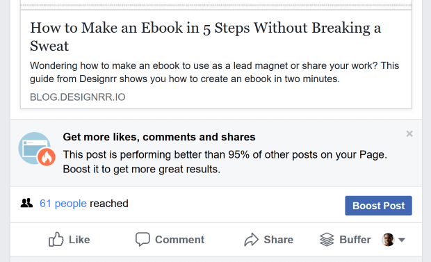 fb boost post prompt