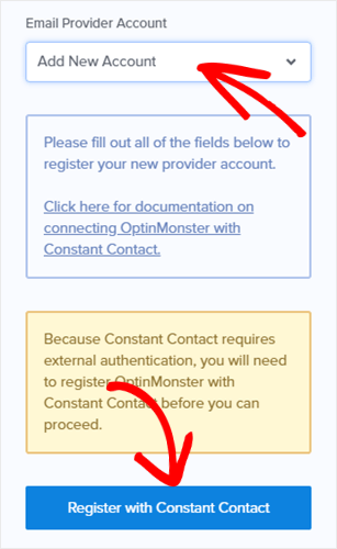 register with constant contact