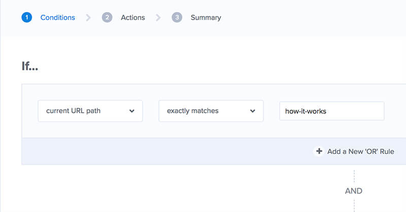 Page Targeting Exactly Matches