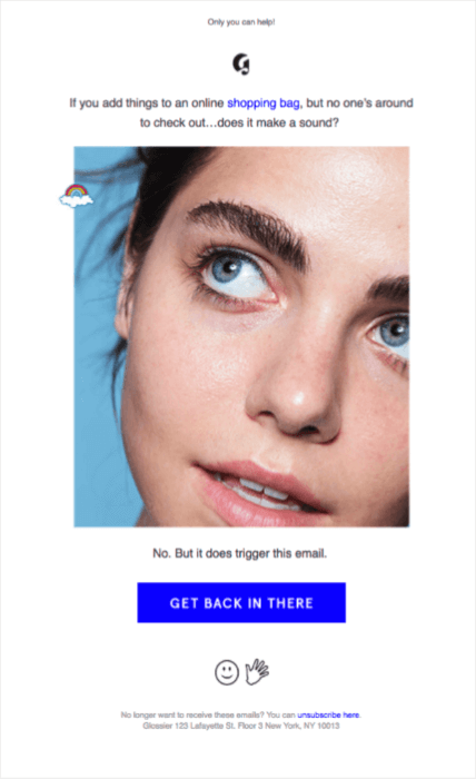 glossier_abandoned_cart_email