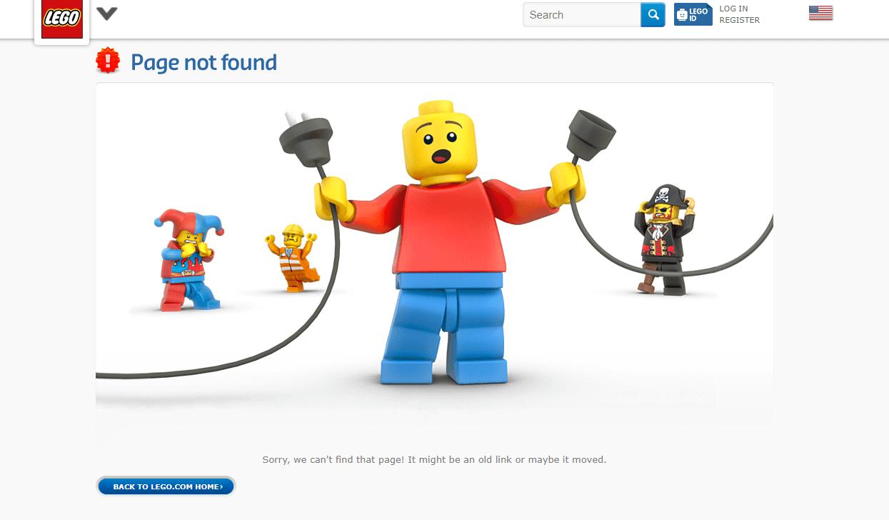 Lego 404 error