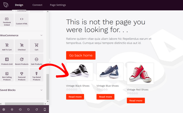 add product grid to 404 error page with seedprod