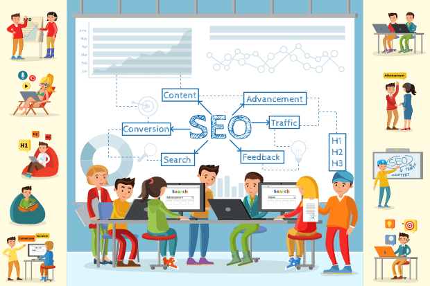search engine optimization concept image