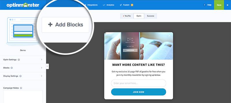 Add Blocks